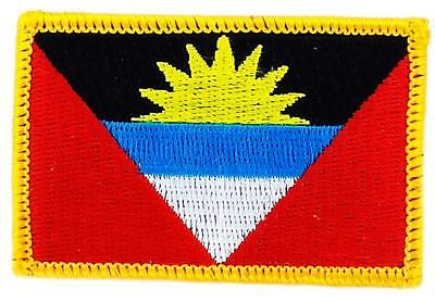 Patch écusson brodé Drapeau ANTIGUA ET BARBUDA Thermocollant  Insigne Blason