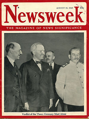 Original Newsweek on the Atom Bomb and End of WWII