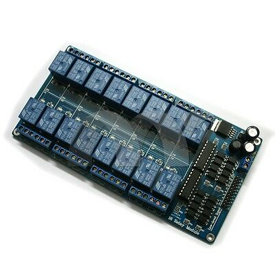 16-Channel 5V Relay Module Coupling Optocoupler High Trigger For MCU Arduino