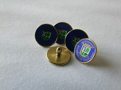 St Andrews Old Course Logo Ball Markers in 5 Styles, Sizes and Colours