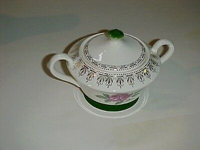 Limoges American Beauty Rose  Covered Sugar Bowl
