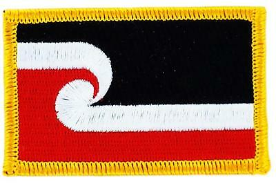 Patch écusson brodé Drapeau  MAORI   FLAG  Thermocollant  Insigne Blason