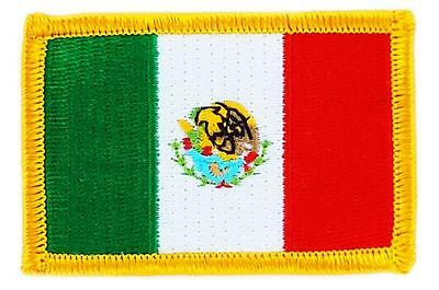 Patch écusson brodé Drapeau MEXIQUE MEXICAIN MEXICO Thermocollant Insigne Blason
