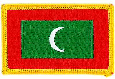 Patch écusson brodé Drapeau MALDIVES  Thermocollant  Insigne Blason