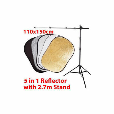 5-IN-1 Photography Photo  Studio Reflector and Stand Holder Set