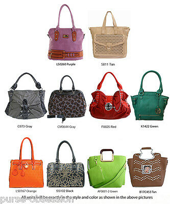 Wholesale Lot 10 Multi-Color Fashion Patchwork Handbag Purses - New with Tags
