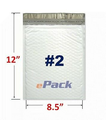 "20 PCS 8.5x12 Poly Bubble Mailers WATER-RESISTANT Envelope Bag 8.5"" x 12"" #2"