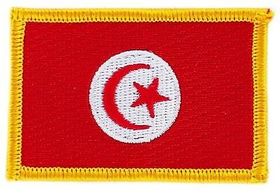 Patch écusson brodé Drapeau TUNISIE TUNISIEN   FLAG Thermocollant Insigne Blason