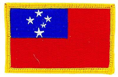 Patch écusson brodé Drapeau SAMOA FLAG Thermocollant Insigne Blason