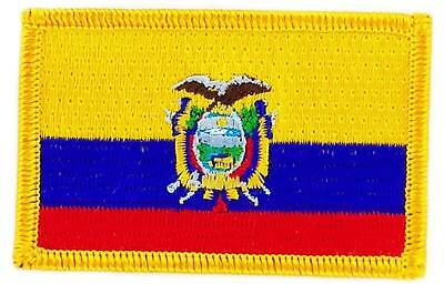 Patch écusson brodé Drapeau  EQUATEUR Thermocollant  Insigne Blason