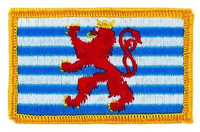 Patch écusson brodé Drapeau LUXEMBOURG ROYAL FLAG Thermocollant  Blason