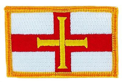 Patch écusson brodé Drapeau  GUERNESEY  FLAG Thermocollant Insigne Blason