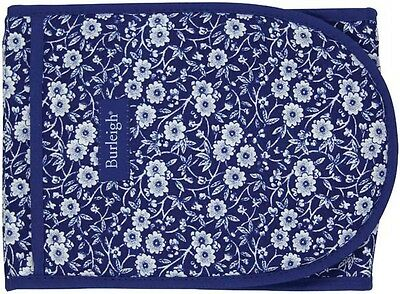 BURLEIGH CALICO BLUE DOUBLE OVEN GLOVES - BRAND NEW WITH TAG
