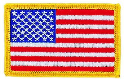 Patch écusson brodé Drapeau USA ETATS UNIS AMERICAIN Thermocollant Insigne