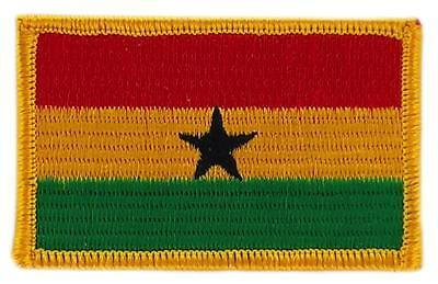 Patch écusson brodé Drapeau  GHANA  FLAG Thermocollant Insigne Blason