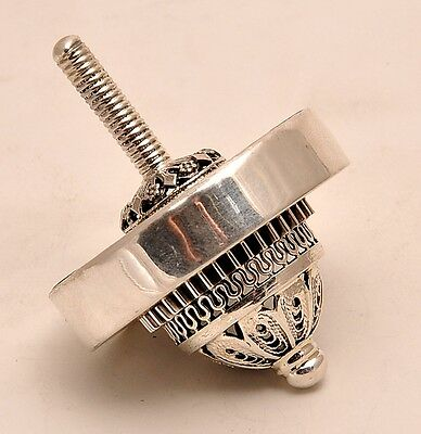 Roman Glass Dreidel Sterling Silver 925 Hand Made