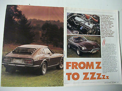 History Of The Datsun 240Z 260Z 280Zx 300Zx 1970 To 1988 8 Page Magazine Article