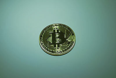 bitcoin physical commemorative coin gold plated 1oz 24k