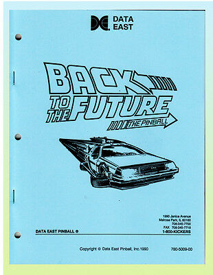 Back to the Future Data East Pinball Manual & Schematics