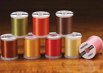 VEEVUS 10/0 THREAD -- 10 colors by the spool or set available Fly Tying