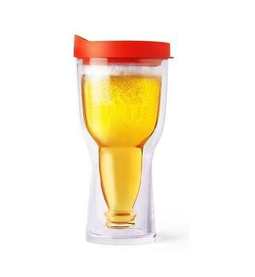 Red Brew2Go 18 oz. Beer Sippy Cup Double Walled Insulated By Ad N Art