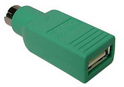 USB Female to PS/2 Male Adapter Converter for Keyboard/Mouse Cable Green for PC