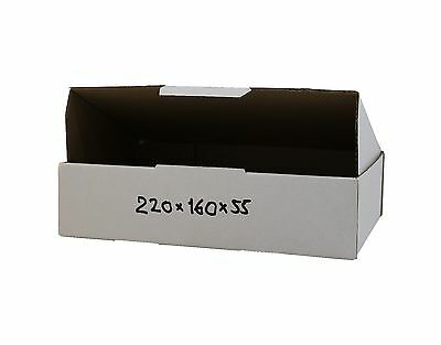 50 220x160x55mm Mailing Boxes Shipping Carton Fits 500g Satchel White Cardboard
