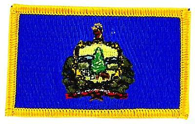 Patch écusson brodé Drapeau VERMONT Thermocollant USA AMERICAIN ETATS UNIS