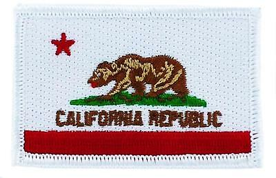 Patch écusson brodé Drapeau CALIFORNIE  Thermocollant USA AMERICAIN ETATS UNIS