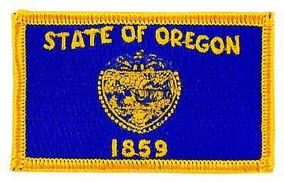 Patch écusson brodé Drapeau OREGON  Thermocollant USA AMERICAIN ETATS UNIS