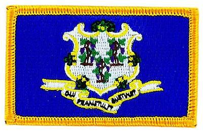 Patch écusson brodé Drapeau connecticut  Thermocollant USA AMERICAIN ETATS UNIS