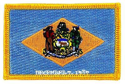 Patch écusson brodé Drapeau DELAWARE  Thermocollant USA AMERICAIN ETATS UNIS