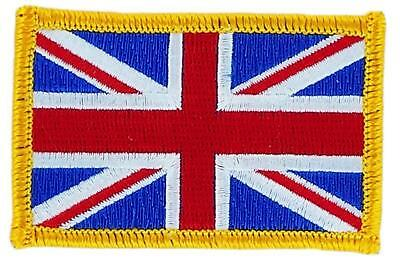 Patch écusson brodé Drapeau UNION JACK ANGLAIS UK ROYAUME UNIS  Thermocollant