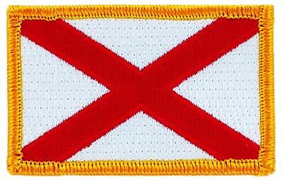 Patch écusson brodé Drapeau ALABAMA Thermocollant USA AMERICAIN ETATS UNIS