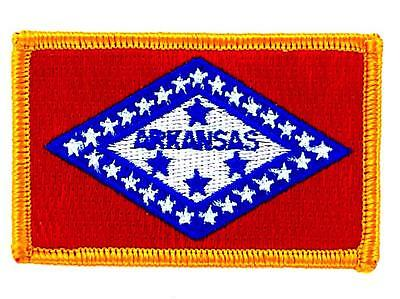 Patch écusson brodé Drapeau ARKANSAS  Thermocollant USA AMERICAIN ETATS UNIS