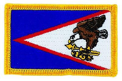 Patch écusson brodé Drapeau SAMOA USA   Thermocollant USA AMERICAIN ETATS UNIS