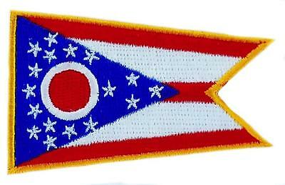 Patch écusson brodé Drapeau OHIO  Thermocollant USA AMERICAIN ETATS UNIS