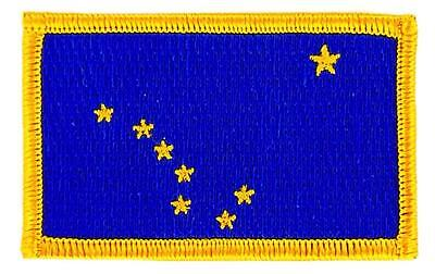 Patch écusson brodé Drapeau ALASKA  Thermocollant USA AMERICAIN ETATS UNIS