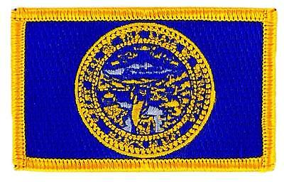 Patch écusson brodé Drapeau NEBRASKA  Thermocollant USA AMERICAIN ETATS UNIS