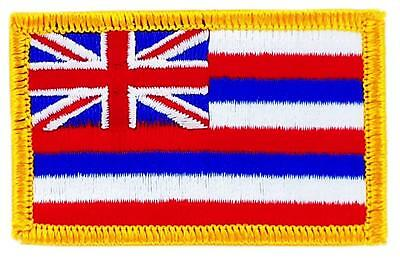 Patch écusson brodé Drapeau HAWAÏ  Thermocollant USA AMERICAIN ETATS UNIS hawaii