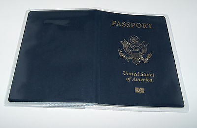2 x Clear Thick Plastic Vinyl Passport Cover  New Great Quality (Cover Only)