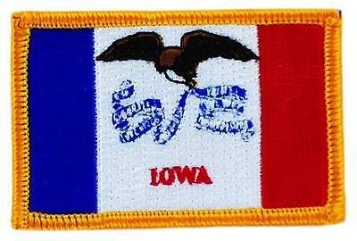 Patch écusson brodé Drapeau IOWA  Thermocollant USA AMERICAIN ETATS UNIS