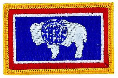 Patch écusson brodé Drapeau WYOMING  Thermocollant USA AMERICAIN ETATS UNIS