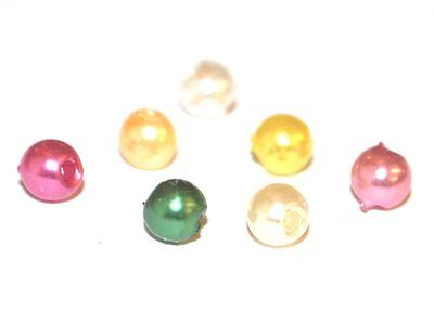 200 / 1000 Coloured Faux Acrylic Plastic Pearl Wedding Craft Round Beads 6Mm 4Mm