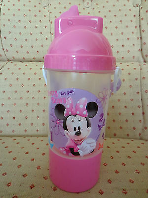 Disney Minnie Mouse Flip Top Water Bottle Thermos Pink New