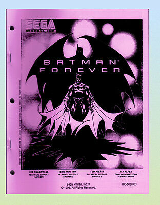 Batman Forever 1995 Sega Service  & Parts Manual