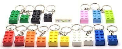 LEGO Brick 2x4 & 2x2 Keyring / Keychain - Lots of Colours - Party Bag 3001 NEW