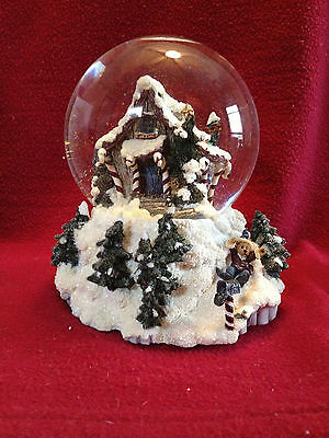 Boyds Bearly Built Villiage Kringles Shanty Winter Wishes #19701 Musical Globe