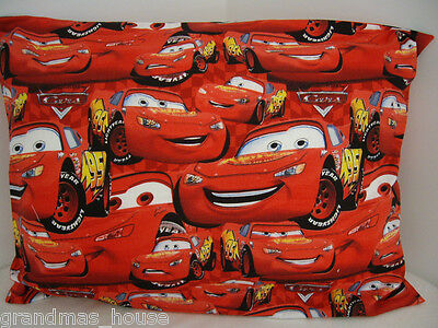 Disney Cars Pillowcase Lightning McQueen ALL OVER Cot Toddler Size 100% Cotton