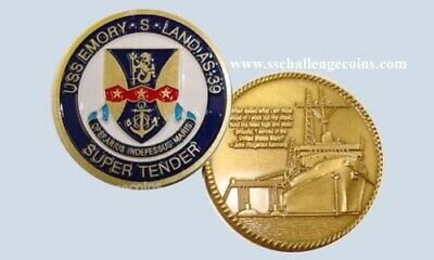 USS Emory S Land AS 39 Submarine Tender Coin Navy USN